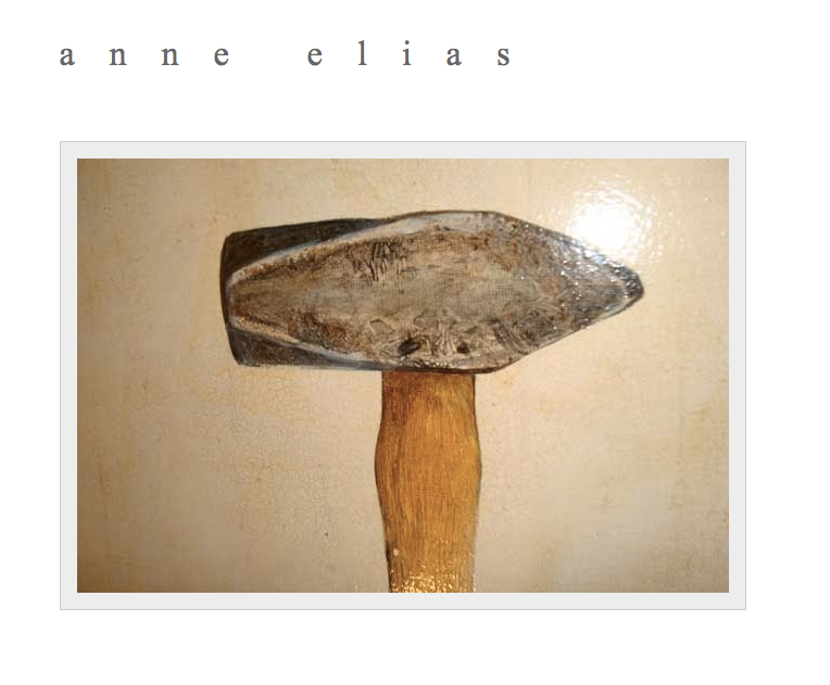 painting of a hammer that links to anne elias's website