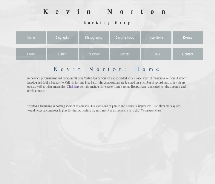 that links to the musician and composer Kevin Norton's website