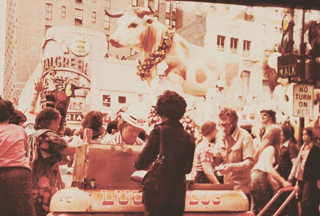 How about this for a flashback? @luckydogsnola on Canal (we're guessing the seventies). #throwback #latergram #mardigras #neworleans #classic #vintage #mardigras #floats #polaroid #nola #carnivale #louisiana #food #hotdogs #legendary #tradition