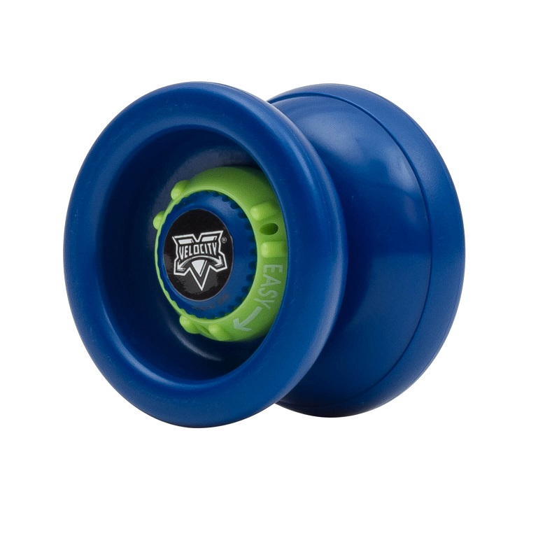VELOCITY   UPC: 689076425704  Part #: 42570  Yo-Yo of the 21 st century! The patented Velocity® is the first yoyo of its kind. By turning the Adjust-O-  Matic Dials™ on each side of the yoyo, the Velocity® can be transformed from a classic up-and- down  yoyo into a modern long-spin beast! This is the most versatile yoyo that you can buy!