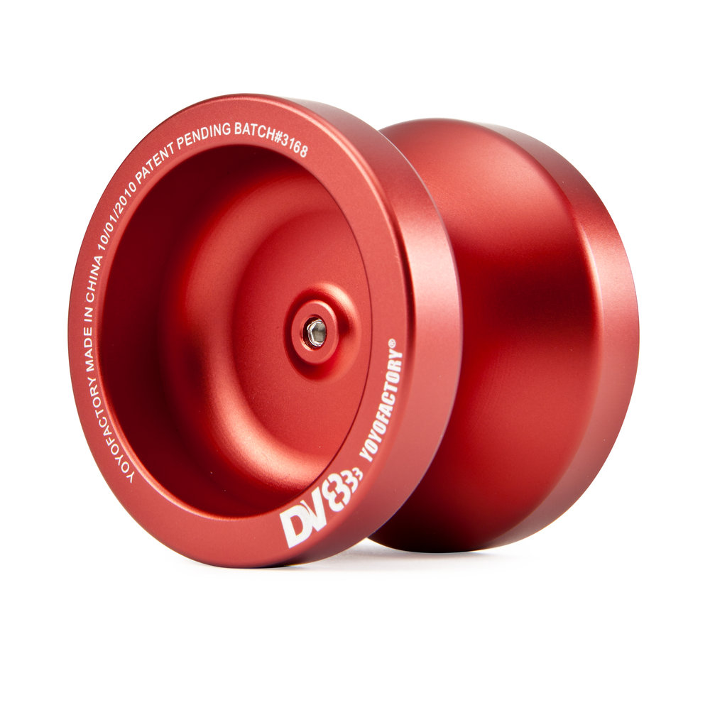 DV888 UPC: 689076520102 Part #: 52010 The DV888 is composed of high-grade 6061 aluminum for durable performance, a smooth anodized surface, a large SPEC™ bearing for ultra-long spins, and the same silicone pad response system as our Premium Collection ™ Yo-Yos for maintenance free play. Whether it's your first metal yoyo or your go-to yoyo for the next major performance, the DV888™ will not disappoint!