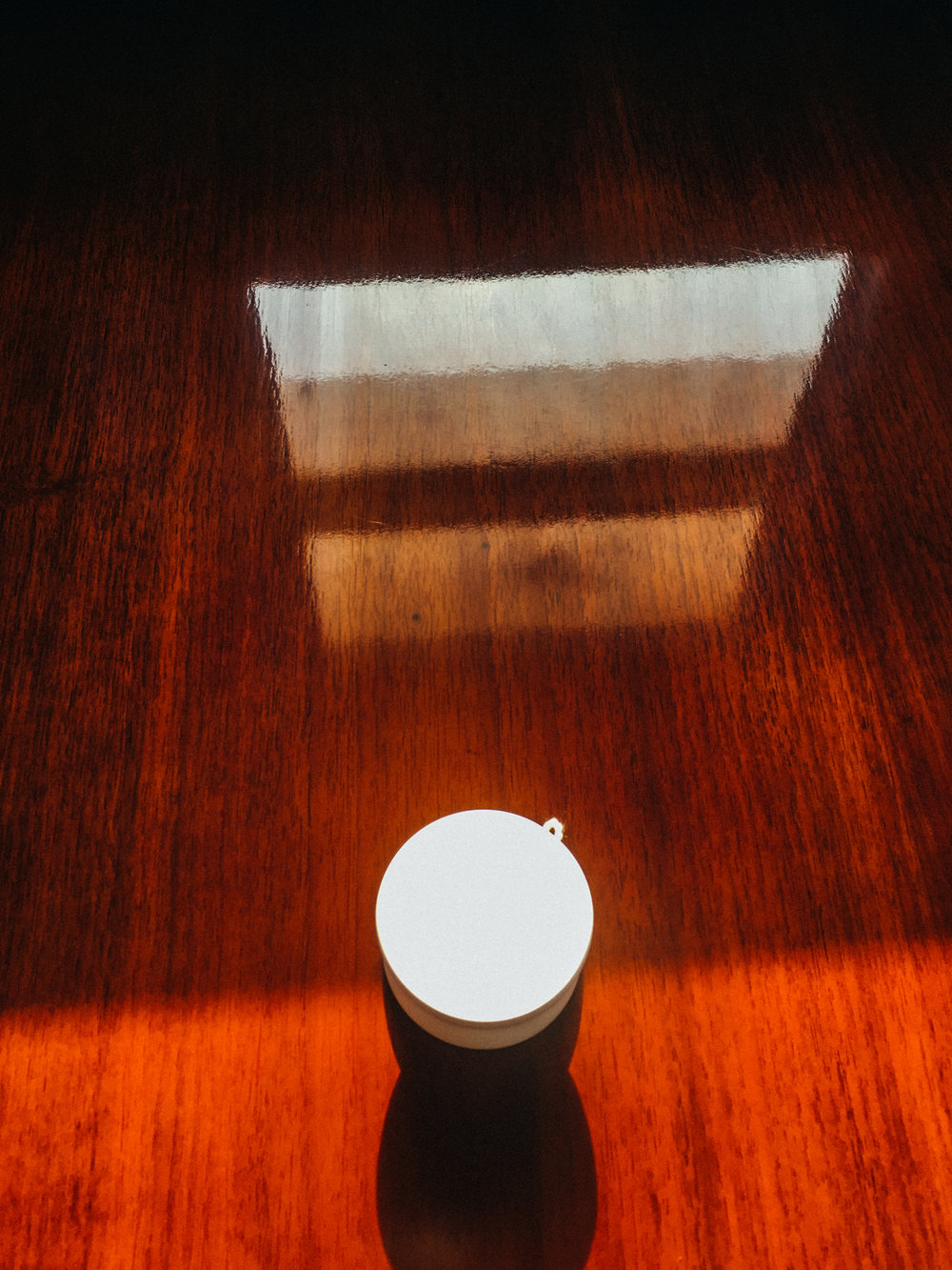 For a brief moment, this yoyo existed in both the south and the north. It sits atop the conference table which one day may be used to negotiate a permanent resolution to the conflict on the Korean peninsula.