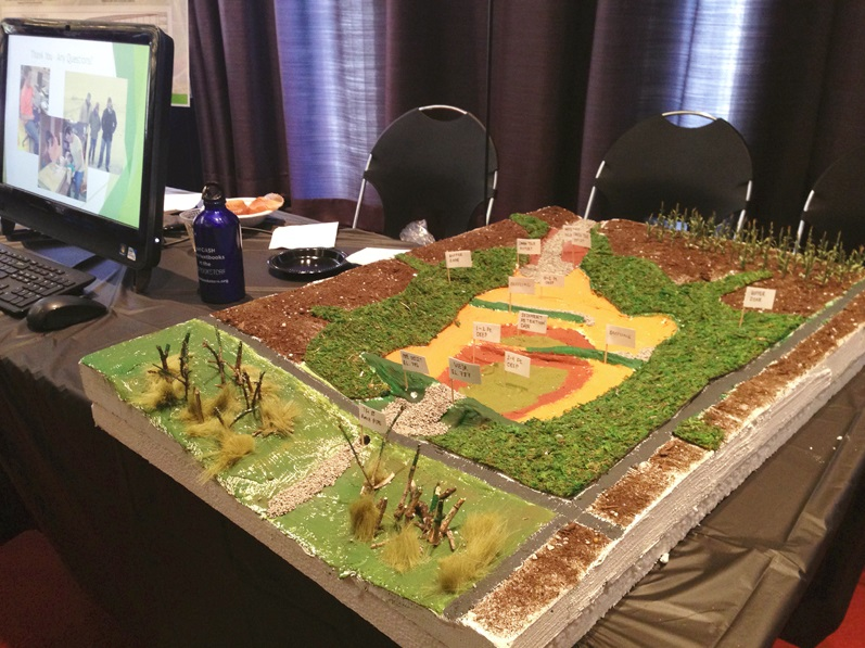 The wetland model on display at the UIC engineering expo. Photo by Vera Leopold/TWI.