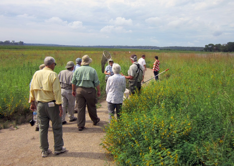 A guided walk to look for dragonflies was one of six activities attendees could enjoy after the dedication. Each activity represented one of the six Ramsar criteria for which the Refuge was recognized.