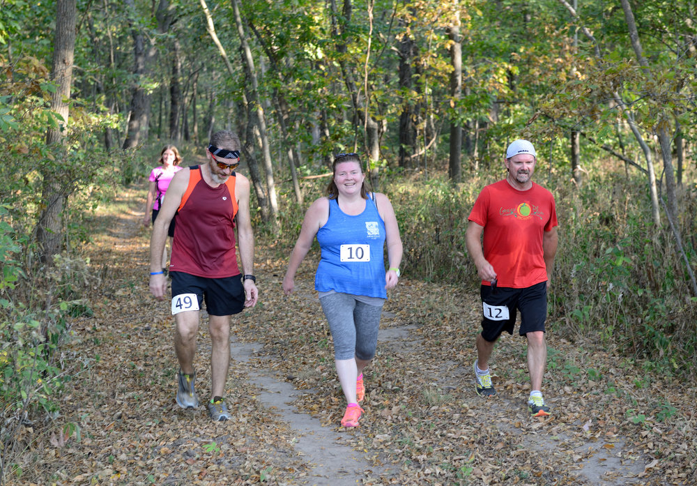 Participants in TWI's Dixon Refuge Dash in September 2017 got a sneak peek of the habitats and new trails at Sandy Hollow. Photo by Gary Sullivan/TWI.