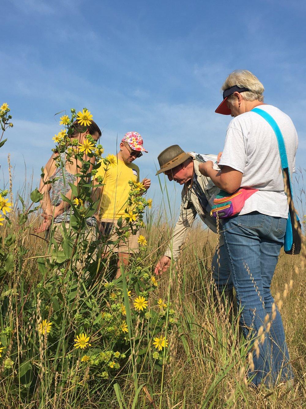 TWI Senior Ecologist Gary Sullivan led a wildflower walk along the Marquis Oak Ridge Trail. Photo by Pat Hollingsworth.