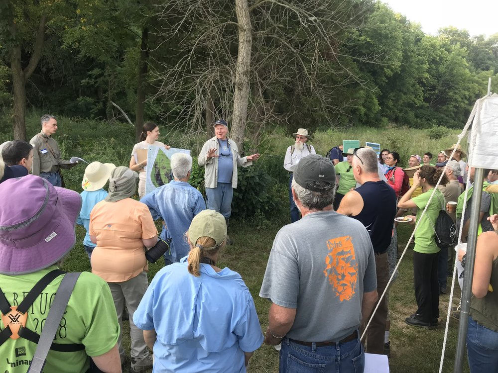 A quick orientation to the Dixon Refuge on Saturday morning before guided surveys began. Photo by Jill Kostel/TWI.