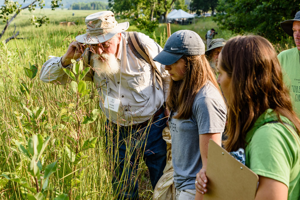 Mark DuBois, an international ant expert from Peoria, led an Ant and Insect Safari along the Seep Trail on Saturday morning. Photo by Rafi Wilkinson.