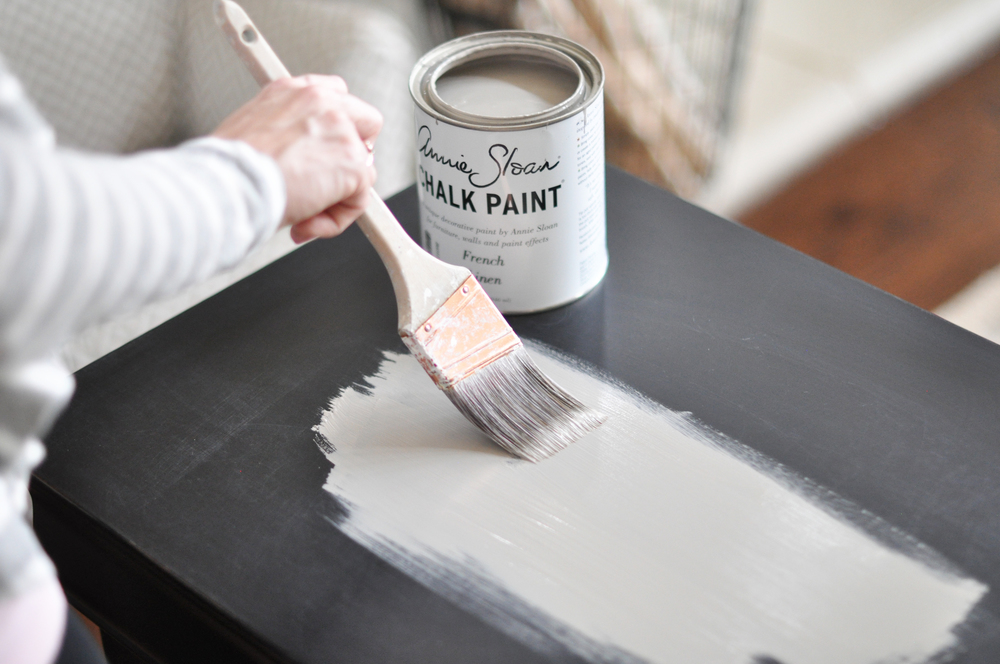 nightstand chalk paint tutorial the grace house. Black Bedroom Furniture Sets. Home Design Ideas