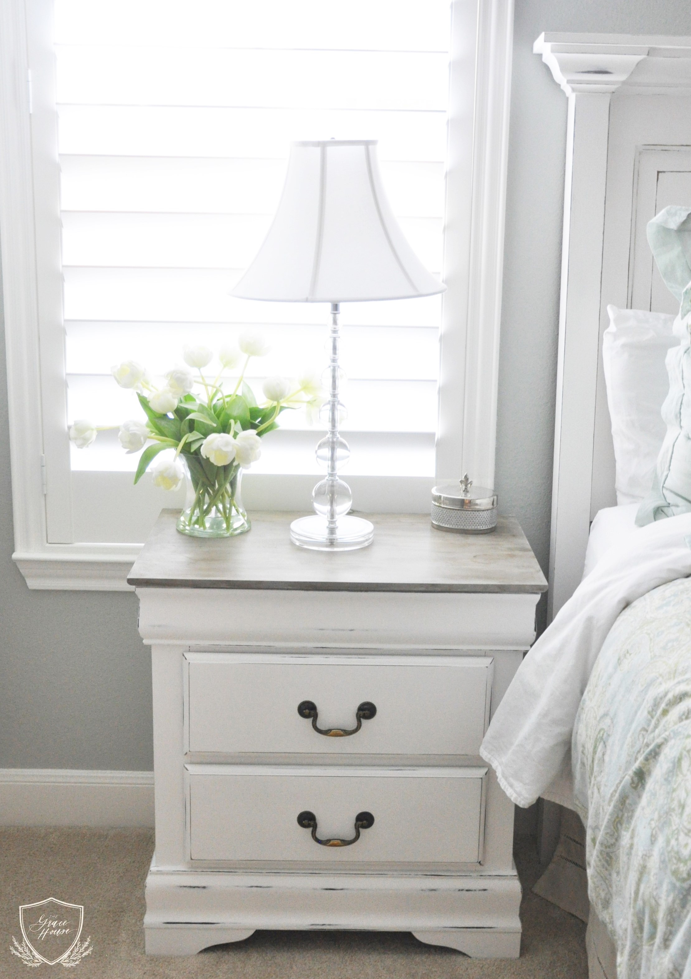 Nightstand Chalk Paint Tutorial The Grace House