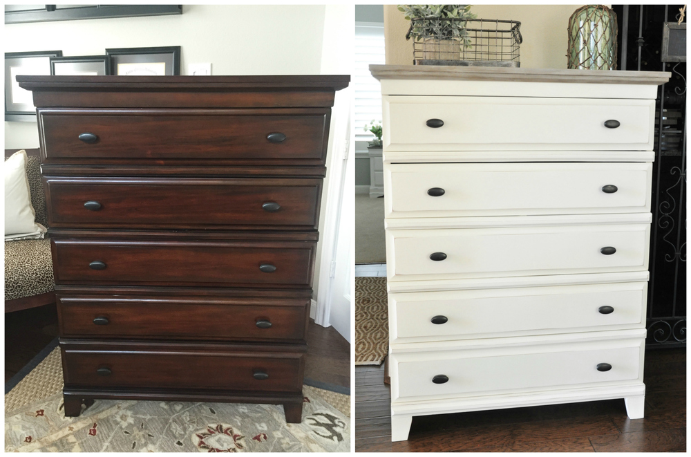 From Transitional To Cottage Style With Chalk Paint