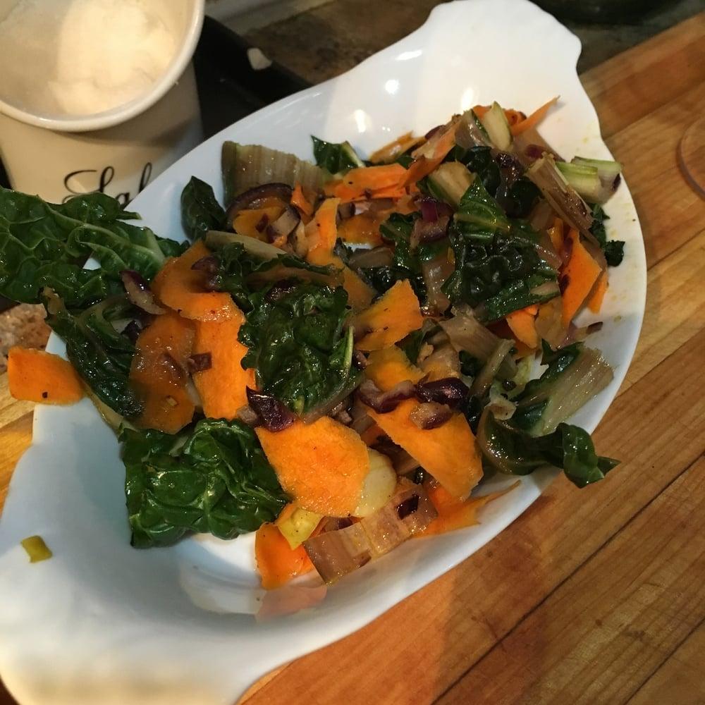 Sauteed Carrot & Chard rib