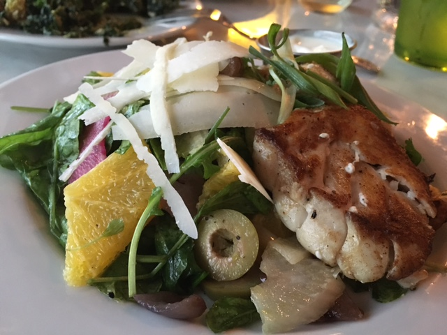 Oven Roasted Tile Fish with replacement Orange & Radish Salad