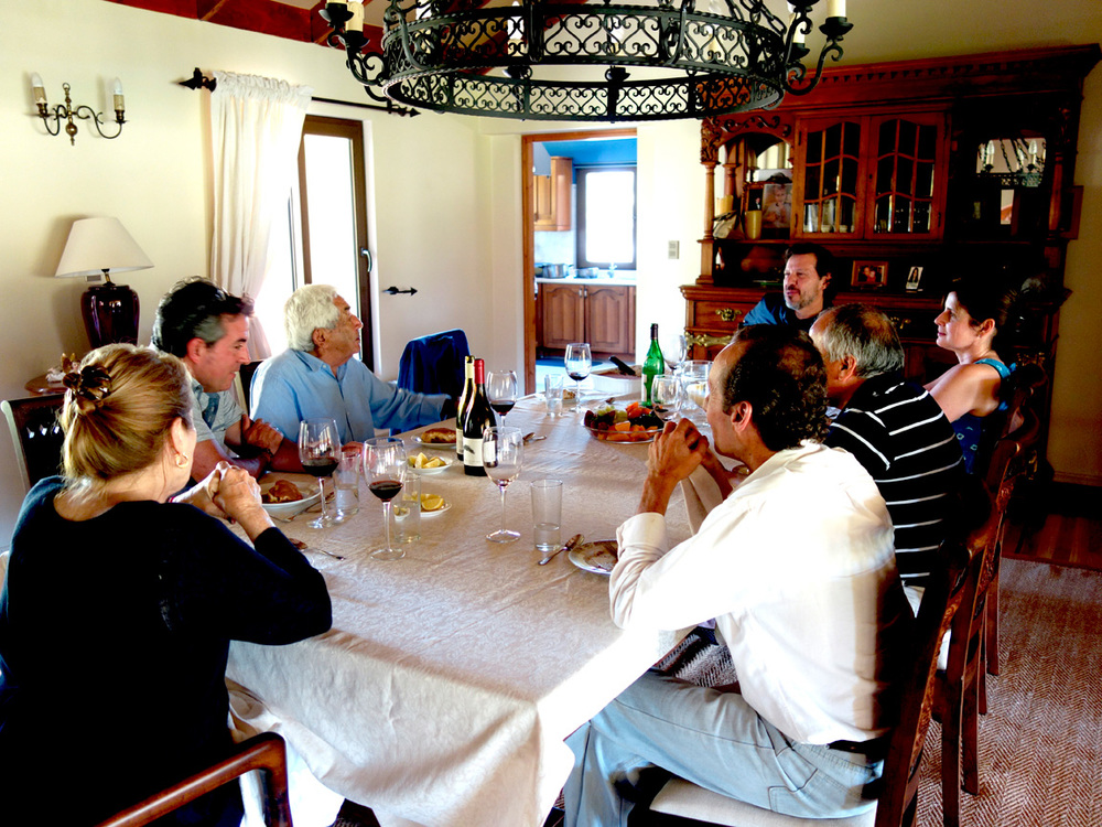 Lively dinner discussion