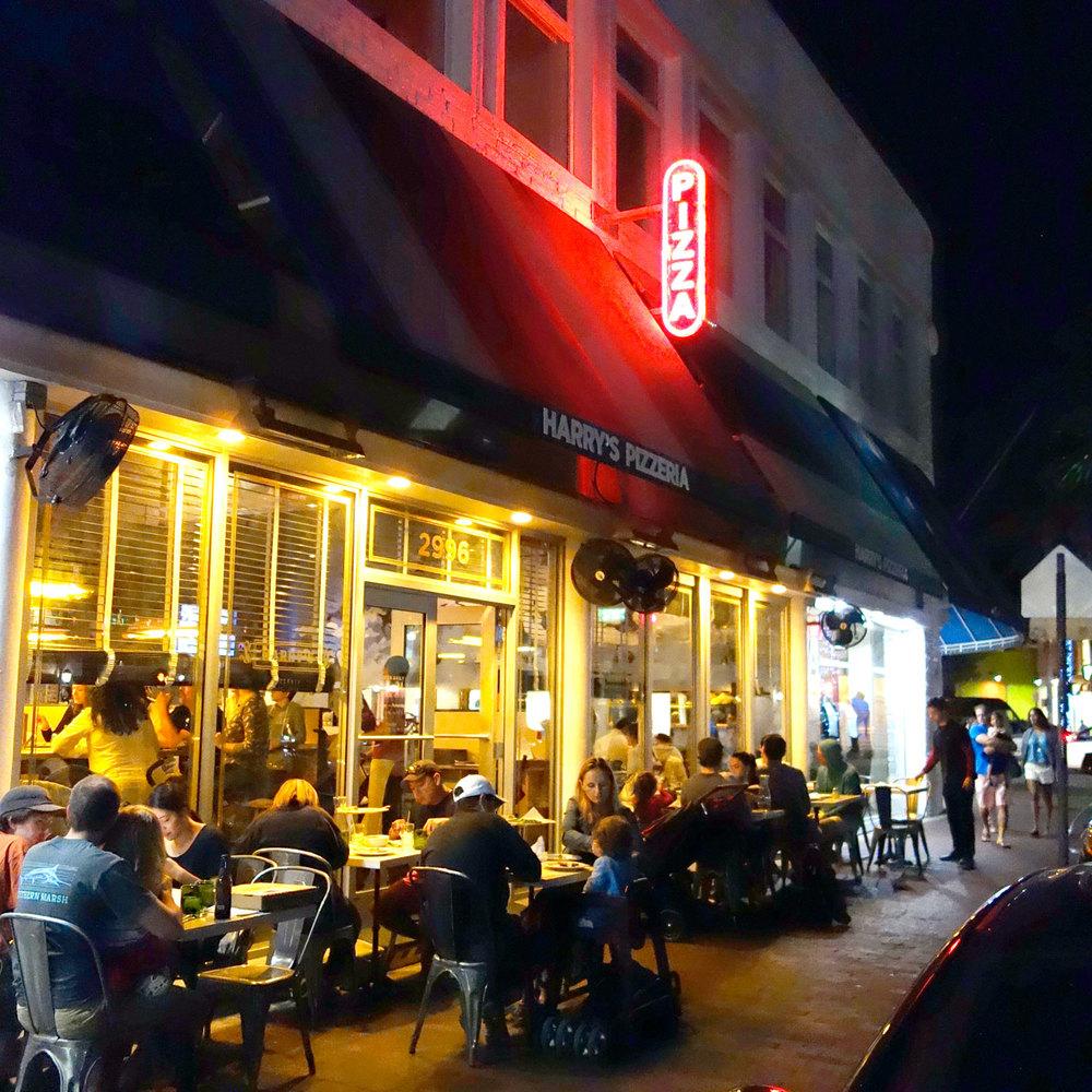 Harry's Coconut Grove exterior on a Sunday night