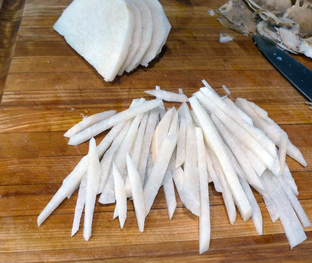 Jicama cut into strips