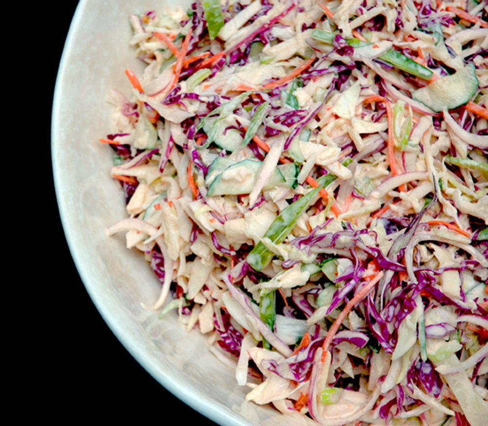 Slaw with mayo dressing version