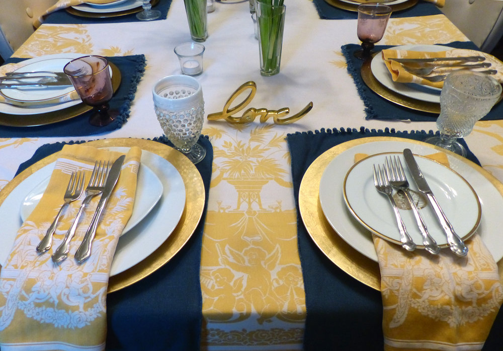 Yellow, Yellow Burst of Sunshine Tablesetting — 2 STIR WITH LOVE