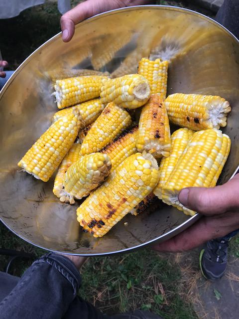 Farm fresh corn roasted on the grill. (Photo credit: Dori Eckert)