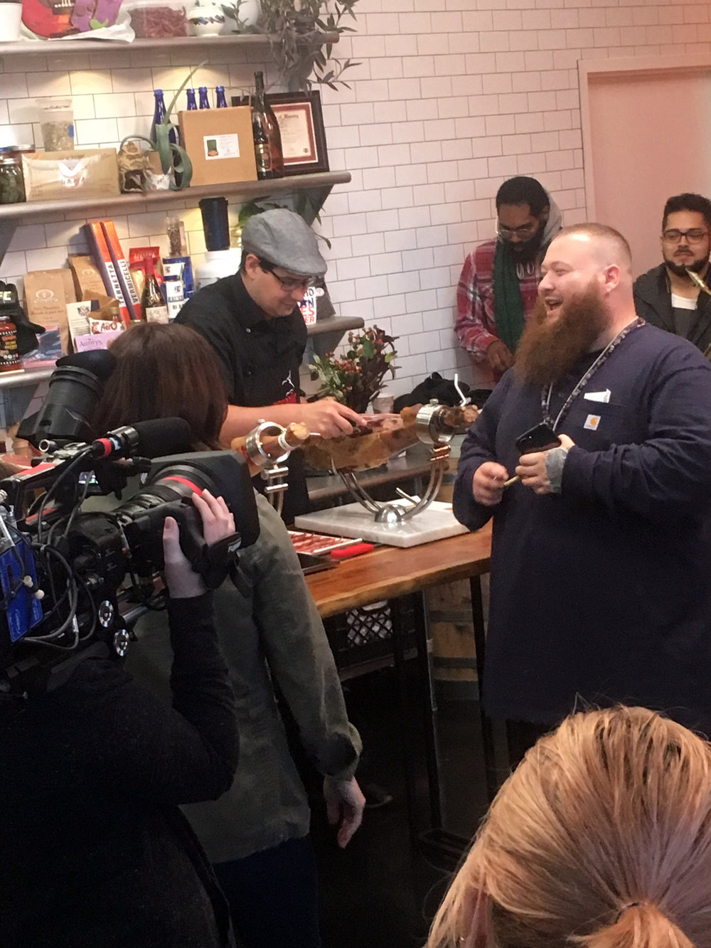 Action Bronson checking out the jamón