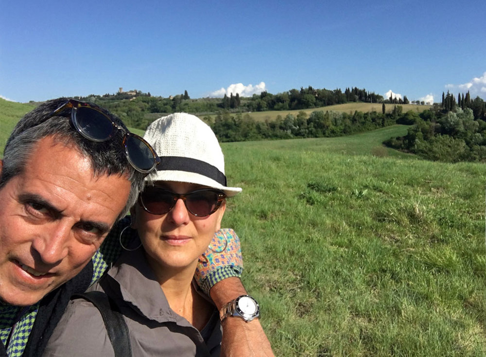JC and me in the Italian countryside. Montespertoli, Tuscany