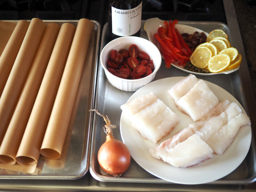 Using the mise en place method of cutting all ingredients, and getting everything ready makes assembly much easier.
