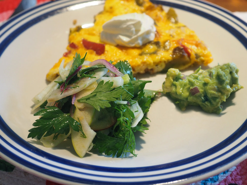 Oh, the freshness truly brighten an already delicious brunch plate.