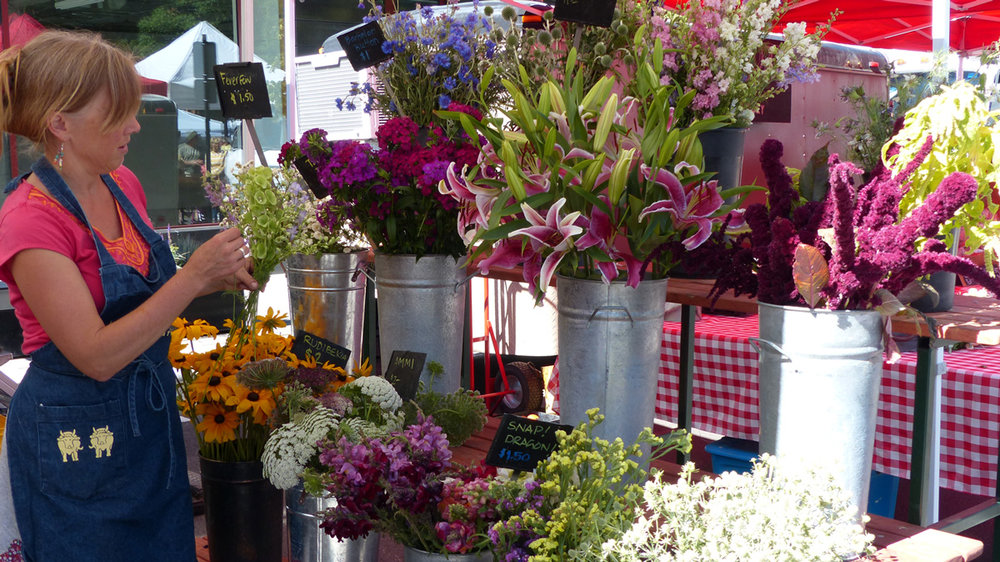 Flowers at the  Aspen Farmer's Market .