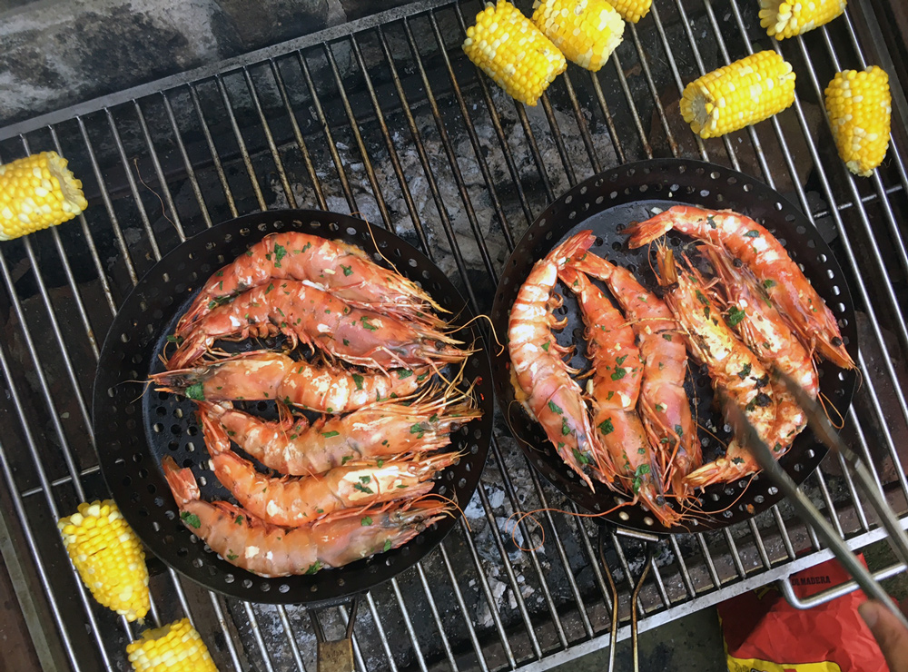 Large and juicy, langostinos on the grill are divine.