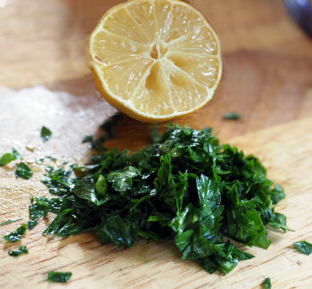 Fresh parsley and lemon give this dip a zip.