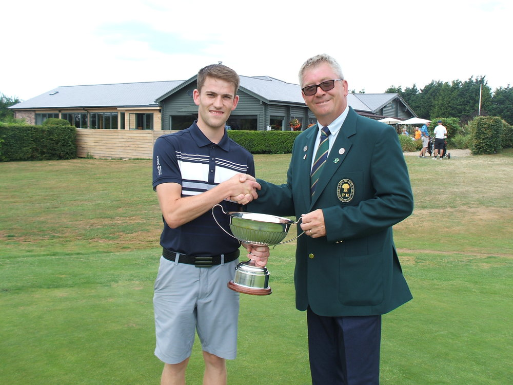 New Club Champion Dan Ephraim pictured with the Captain.