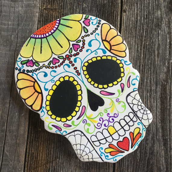 Handpainted Sugar Skull from MushTushy