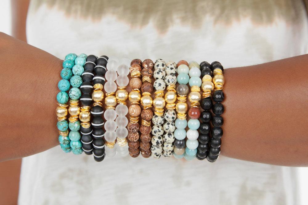 BOHO Natural Bead Bracelets from Expressions Bracelets