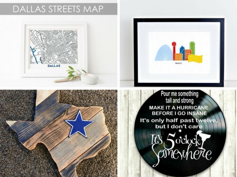 Clockwise from top left: Joy Street Maps, Wandering Paper Co., Vinyl Revamped, Mush Tushy