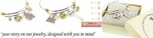 Expressions Bracelets - 20% off all hand-stamped jewelry. No coupon needed.