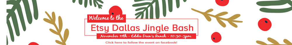 Join us November 11th at Eddie Deen's Ranch for the best handmade shopping in town! Plus we'll have bars, burgers and other bites, photo booths, DIY make and take tables, Santa, and did we mention the SWAG for the first 50 shoppers? The swag y'all-it's AH-mazing, you'll wanna get there early!
