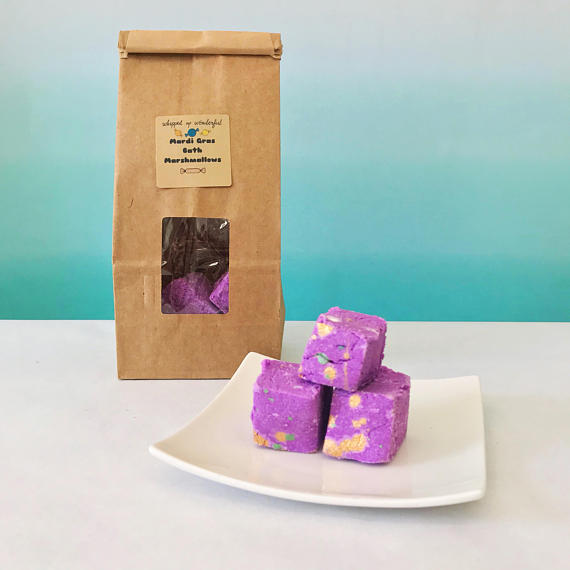 Mardi Gras Bath Marshmallows from  Whipped Up Wonderful