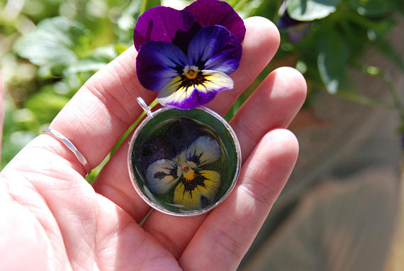 Resin Flower Charm from  GnomeStones
