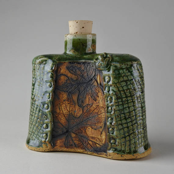 Stoneware Flask Decanter from  Both Hands Studio