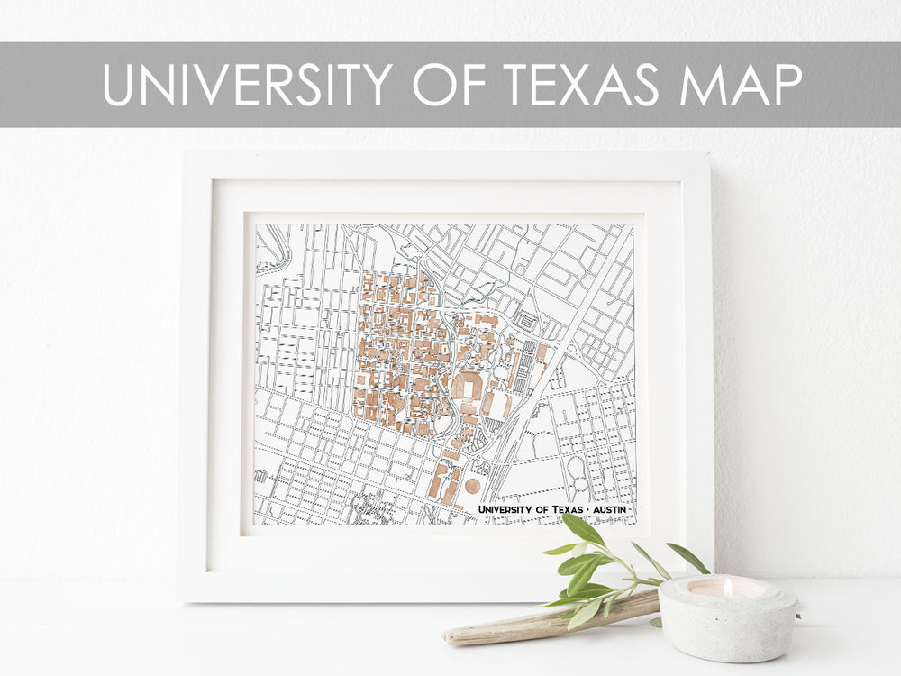University of Texas Map - Joy Street Maps