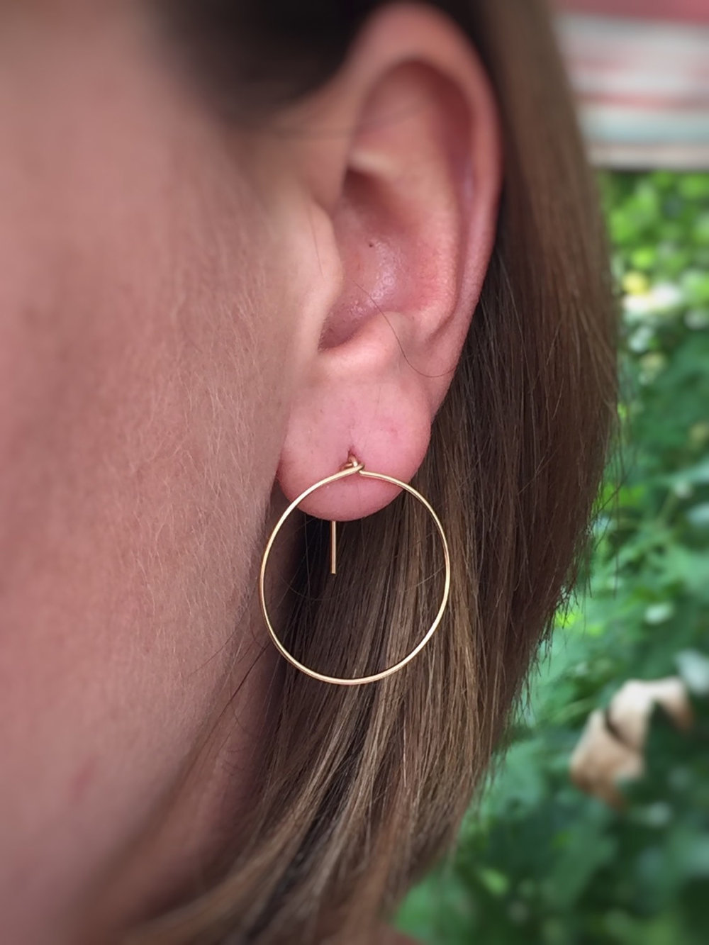 Modern Gold Hoop Earrings - Kathleen Care Jewelry