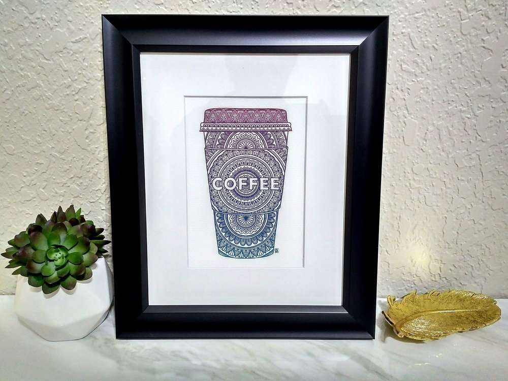 Coffee Henna Art Print - Selah Vie Studios