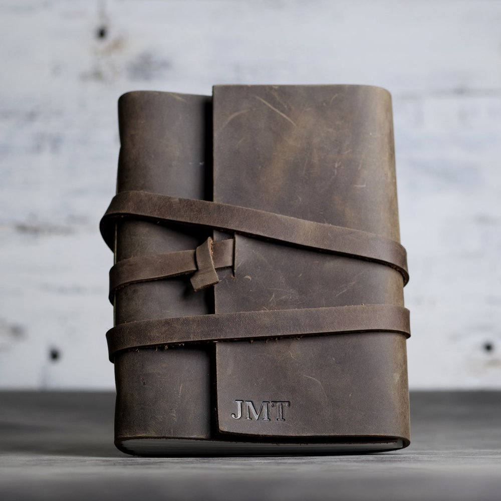 Personalized Leather Journal - Ox & Pine