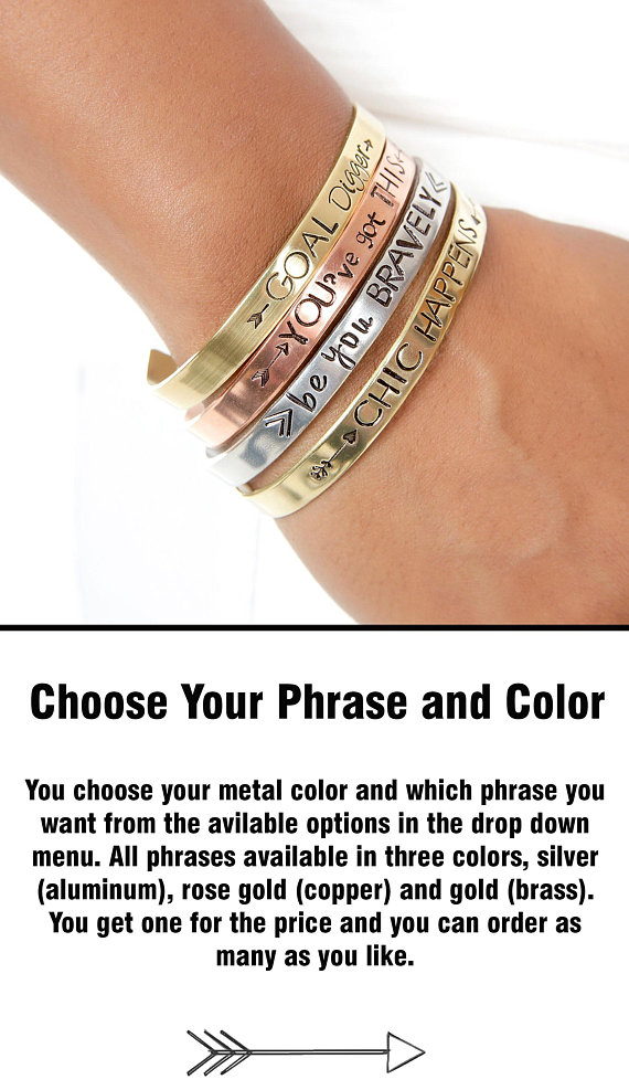 Expressions Bracelets  has wearable inspiration for all you teachers and professors.