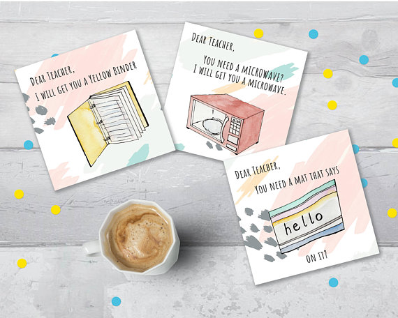 Show your kid's teacher you care with these hilarious cards from  MayaXKiwi  based on that  Dena Blizzard  video you may have seen.