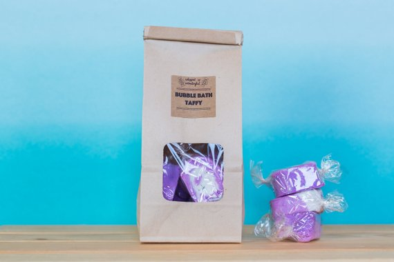 Lavender bubble bath taffy by Whipped Up Wonderful
