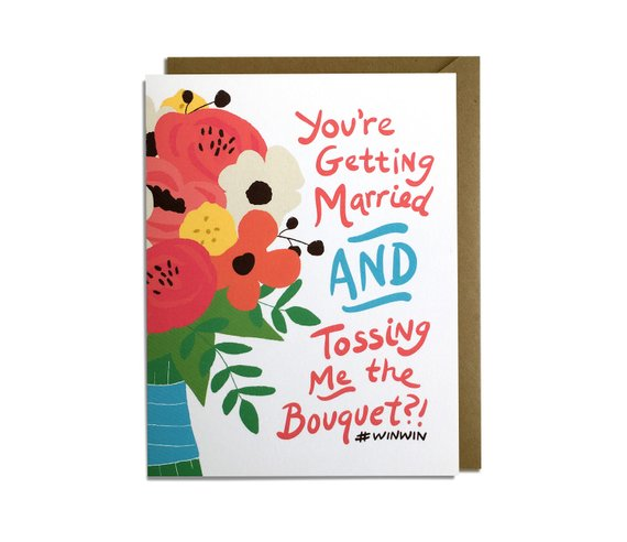 Funny Wedding Card by  Kat French Design