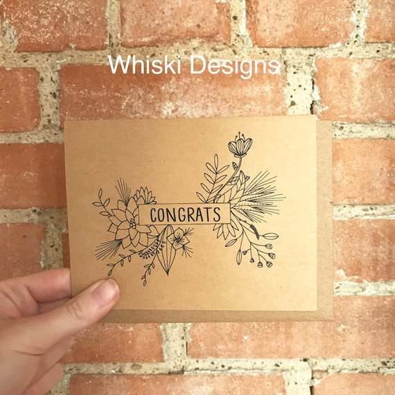 Congrats greeting card by  Whiski Designs