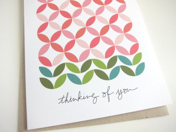 Thinking of you notecard by  Tokodots