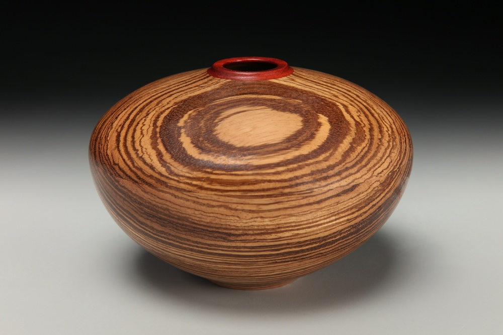 zebrawood with bloodwood top
